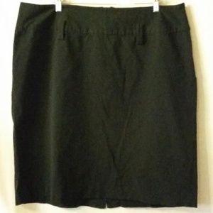 Lane Bryant black pencil skirt with kick pleat